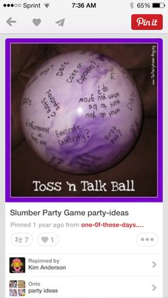 Great activity to do during a sleepover!