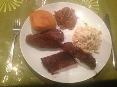 Smoked pork ribs, grilled honey and soy marinated tri-tip, smoked ...