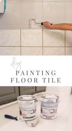DIY: How to Paint Ceramic Floor Tile — Farmhouse Living