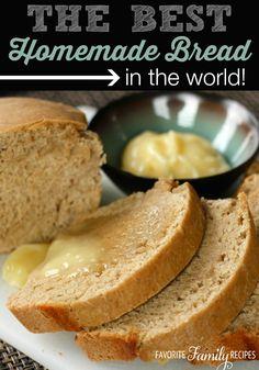 Honey Wheat Bread - Favorite Family Recipes