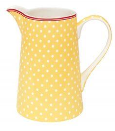 yellow w/white polka dots