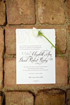 White wedding invitations: http://www.stylemepretty.com/2014/10/17/magical-destination-wedding-at-haiku-mill/ | Photography: Anna Kim - http://annakimphotography.com/