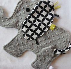 Handmade elephant Taggies Lovey- so cute!