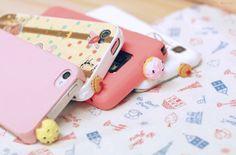 Cupcake iPhone accessories.