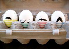Cute mustache Easter eggs