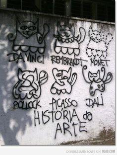 The Cat is on the table: Arte de Rua