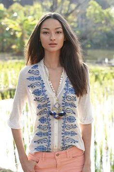 Paisley Trails Tee #anthropologie