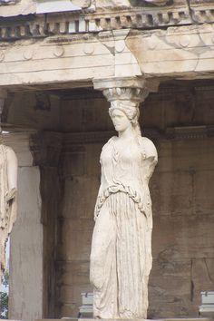 A Karyatid, Erechthion, Acropolis, Athens, Greece Photo: Hannah McCormack