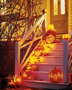 Front porch Halloween idea