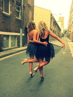 Cute Bachelorette party idea! Wear black tanks/leotard and tutus, with the bride in white #weddings #ido
