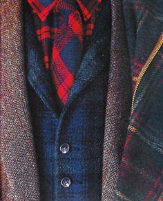 men's wear, plaid, tweed... prep harder.