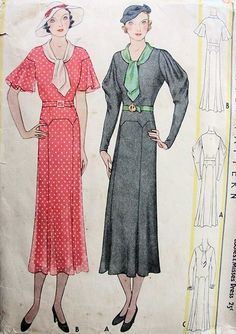 very early 1930s McCall pattern.  Look at those sleeves!