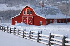 Barn in Winter Wonderland
