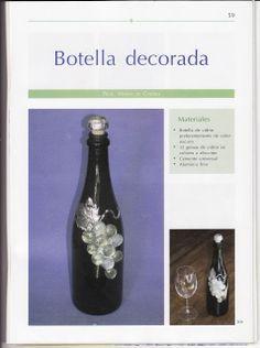 Botella decorada http://manualidadesamigas.foroargentina.net/