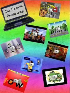 digital interactive poster for some amazing phonics songs!