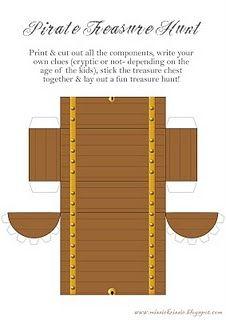 printable treasure chest