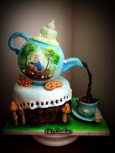 daily top 3 cakes on cakesdecor.com hand painted beatrix potter theme | Tumblr