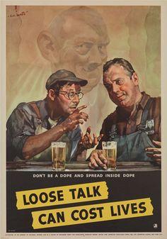 WWII propaganda posters.
