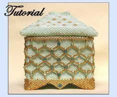 Beaded Crystal Square Box Pattern at Sova-Enterprises.com