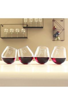 Personalized Tipsy Wine Glasses