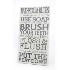 """Bathroom Rules"" Sign"