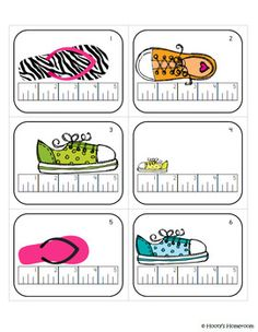 Here's a set of 24 measurement task cards for students to practice measuring objects to the nearest inch and half inch.