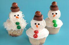 Mini Snowmen Cupcakes