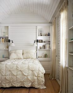 White Bedroom love the built-ins and walls