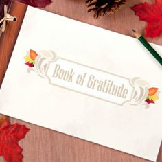 Book of Gratitude for Thanksgiving guest books, printables, fall, thanksgiv idea, craft idea, download freebi, thanksgiving, holiday idea, gratitude