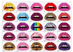 Lips Temporary Tattoo Sticker