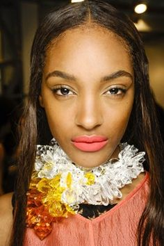 Beauty look backstage at Missoni SS13