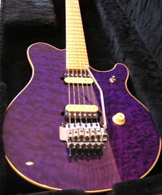 Lovely purple guitar.