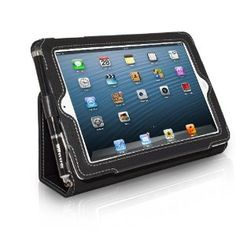 In pink or red -- Amazon.com: Snugg iPad Mini Leather Case Cover and Flip Stand (Black): Computers & Accessories