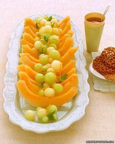 balls, brunches, presentation, colors, breakfast, fruit platters, watermelon, orangeging syrup, dessert