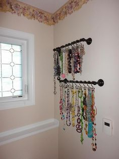 Necklace Holder- going to do this in my closet