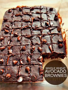 Healthy Whole Wheat Avocado Brownie Bites! (No Butter