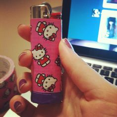 Hello Kitty DucTape Decorated Lighter