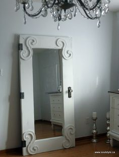 "DIY::Beautiful ""Vintage""  styled door from a cheap IKEA Mirror"