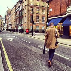 My friend Jordan took this amazing picture of me while we was off to the next Savile Row adventure. He's quite talented behind the camera! (at Savile Row)