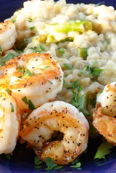 Shrimp and Risotto.
