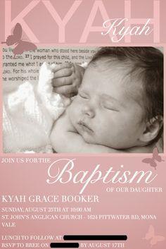 Butterfly Baptism Invitation