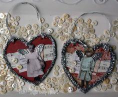 Day #3 of 14 heARTS  Tutorial to make Sweet Tinsel Hearts  http://sugarlumpstudios.com/?p=3954