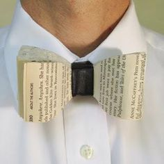 recycled books, fashion statement, book nerd, father day, bow ties, book pages, bride groom, book lover, old books