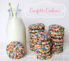 Confetti Cookies on MyRecipeMagic.com #cookies #confetti