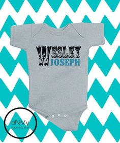 Personalized Name Onesie! Perfect new baby gift!