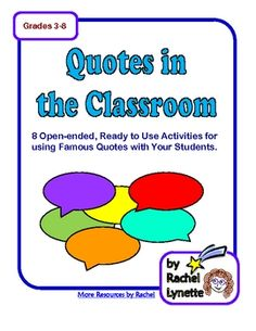 Use with famous quotes-gr 3-5