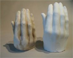 'Hand Soaps' - Hand sculptures cast from artist's family.