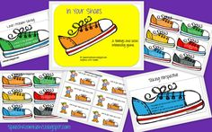 The games are called 'In your shoes.' The download includes 3 games: Problem Solving 1 & 2 and Perspective Taking.