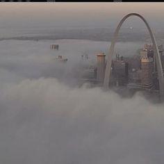 Foggy St. Louis morning, November 8, 2012.