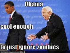 funny pictures, funni, john mccain, zombi, funny stuff, funny faces, polit, meme, barack obama